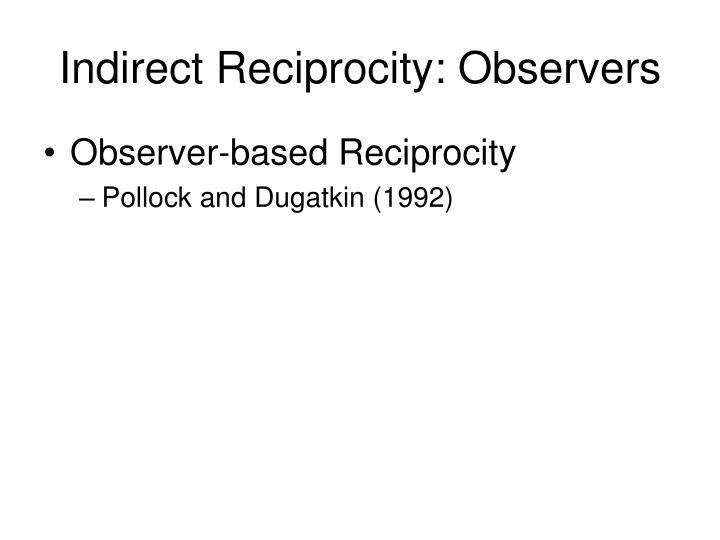 Indirect Reciprocity: Observers