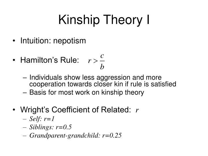 Kinship Theory I