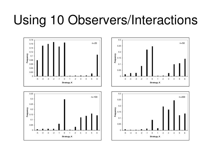 Using 10 Observers/Interactions