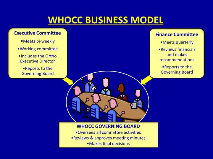 WHOCC BUSINESS MODEL