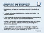 ahorro de energia