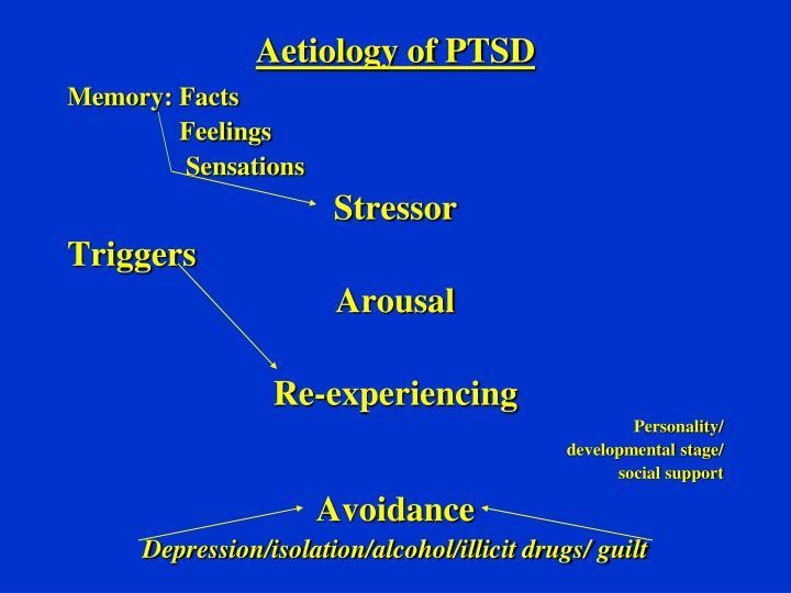 Aetiology of PTSD