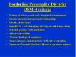 borderline personality disorder dsm 4 criteria
