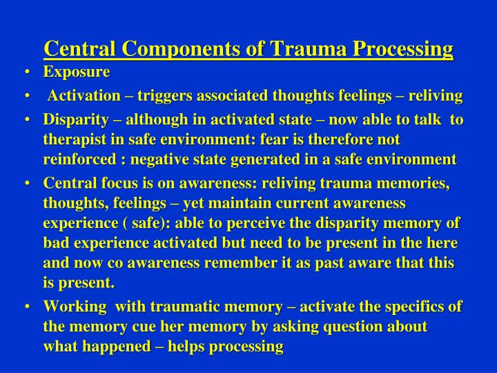 Central Components of Trauma Processing