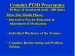 complex ptsd programme 90 days of structured work 600 hours