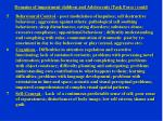 domains of impairment children and adolescents task force contd
