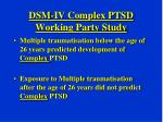 dsm iv complex ptsd working party study