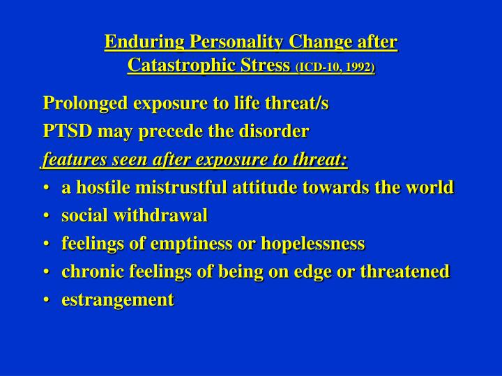 Enduring Personality Change after
