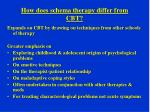 how does schema therapy differ from cbt