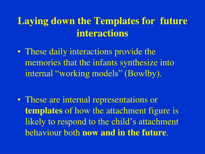 Laying down the Templates for  future interactions