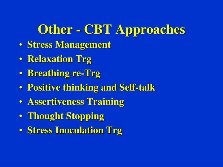 Other - CBT Approaches