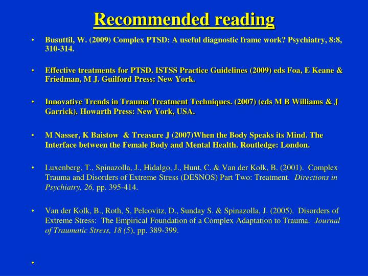 Recommended reading