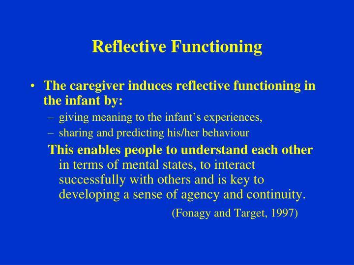Reflective Functioning