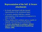 representation of the self secure attachments