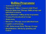 rolling programme