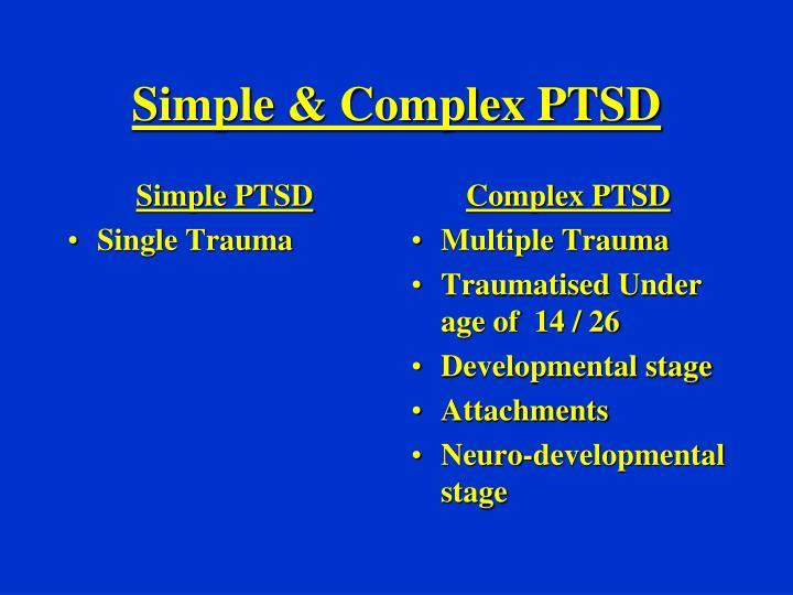 Simple PTSD