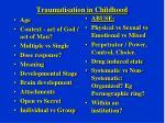 traumatisation in childhood