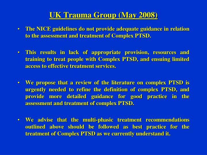 UK Trauma Group (May 2008)