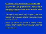 uk trauma group statement on cptsd may 2008