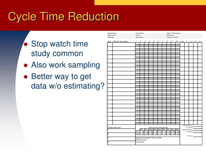 Stop watch time study common