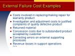 external failure cost examples