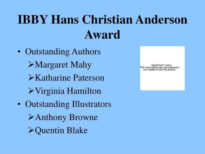 IBBY Hans Christian Anderson Award