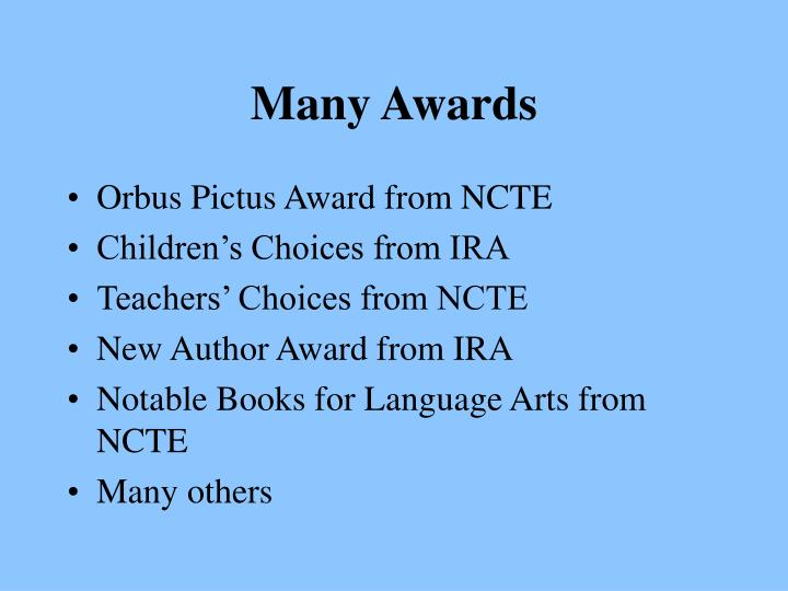 Many Awards
