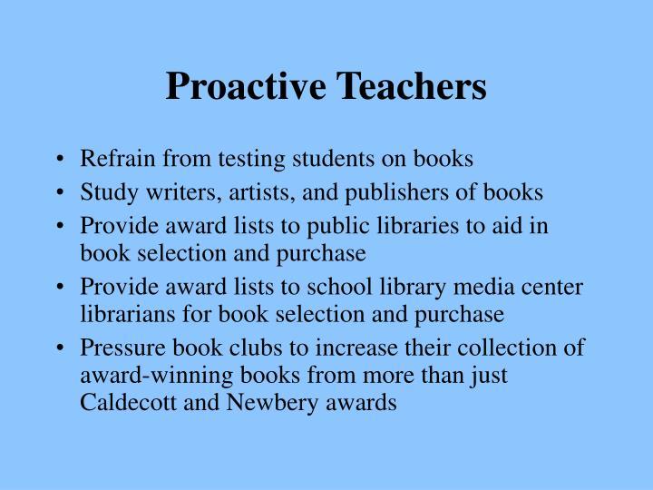 Proactive Teachers