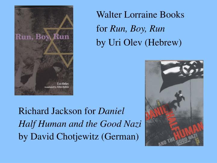 Walter Lorraine Books
