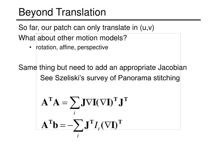 Beyond Translation