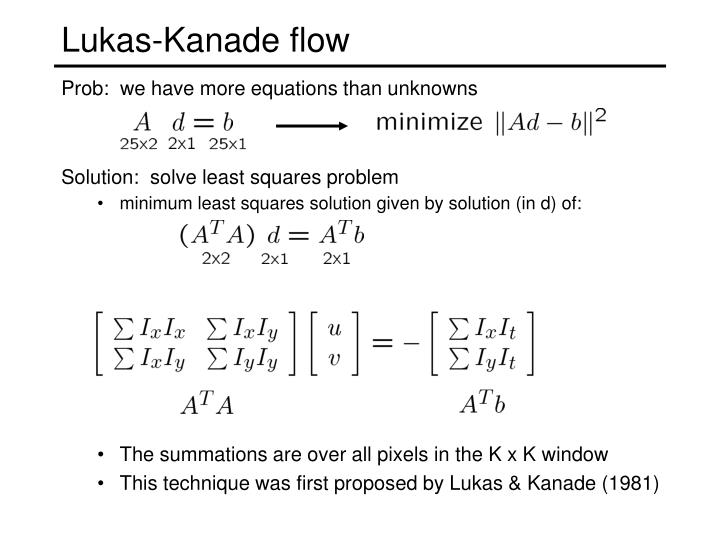 Solution:  solve least squares problem