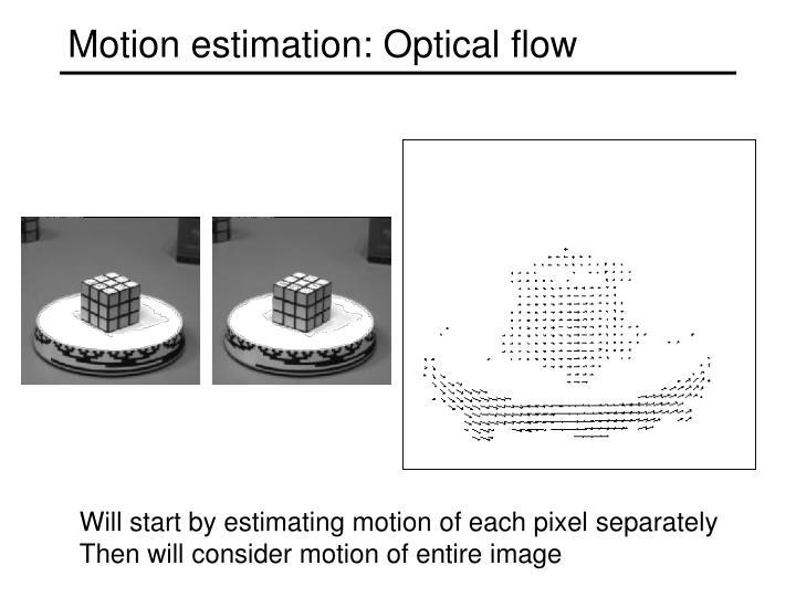Motion estimation: Optical flow