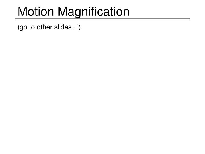 Motion Magnification