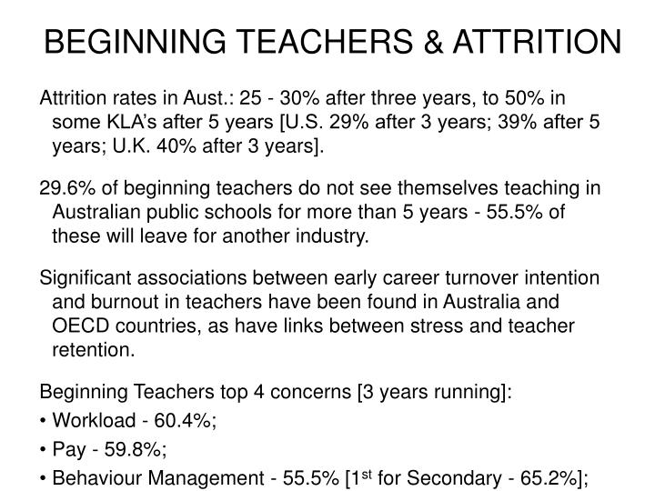 BEGINNING TEACHERS & ATTRITION