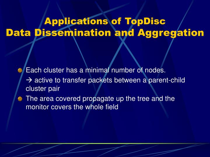 Applications of TopDisc