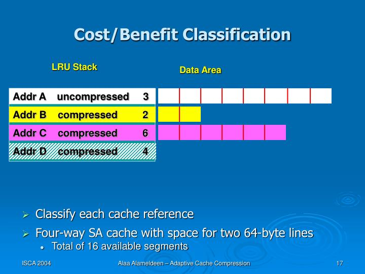 Cost/Benefit Classification
