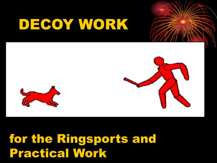 DECOY WORK