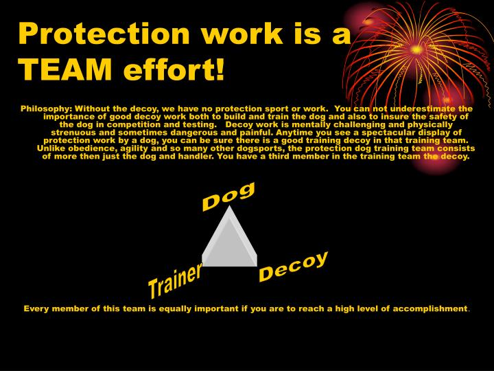 Protection work is a team effort