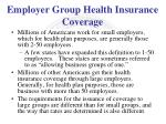 employer group health insurance coverage1