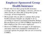 employer sponsored group health insurance