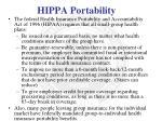 hippa portability