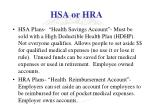 hsa or hra