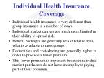 individual health insurance coverage1