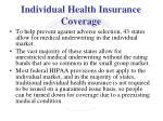 individual health insurance coverage3