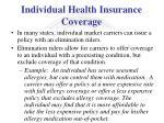 individual health insurance coverage4