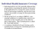 individual health insurance coverage5
