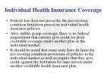 individual health insurance coverage6