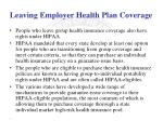 leaving employer health plan coverage2