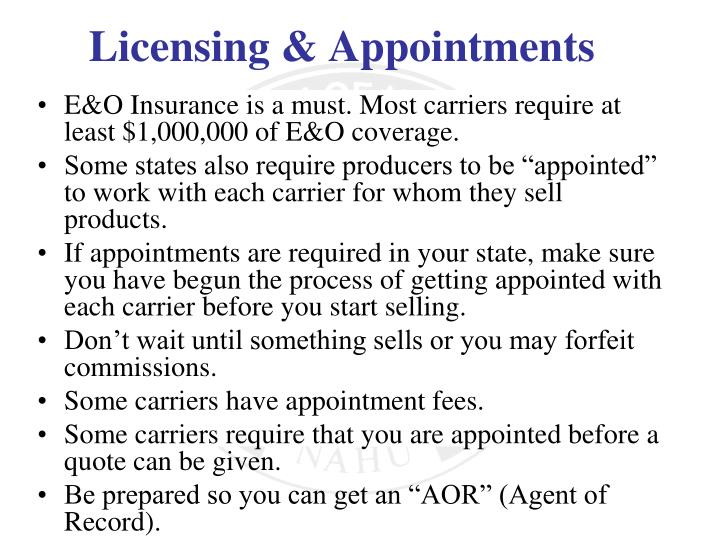 E&O Insurance is a must. Most carriers require at least $1,000,000 of E&O coverage.