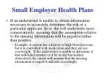 small employer health plans2